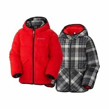 Columbia Boys Dual Front Reversible Winter Ski Jacket Coat - Red (XL)