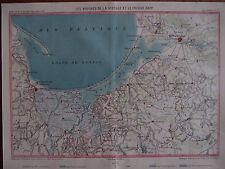 Danzig/Gdansk colorierte Karte Danziger Bucht/Königsberg  ~ 1875 !!!