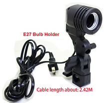 New E27 Bulb Holder Socket Flash Umbrella Swivel Bracket Photo Light Lamp Mount