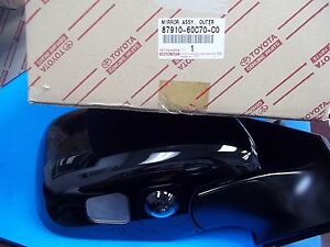 GENUINE LEXUS LX570 OUTER MIRROR ASSY BLACK PASSENGER SIDE 87910-60C70-C0
