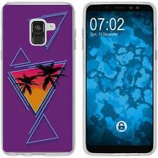 Case für Samsung Galaxy A8 (2018) Silikon-Hülle Retro Wave Palmen M3 Case
