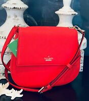 NWT Kate Spade Byrdie Crossbody/Shoulder Bag in Red Leather Stunning Only One!!!