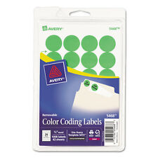 """Avery Printable Removable Color-Coding Labels 3/4"""" dia Neon Green 1008/Pack"""