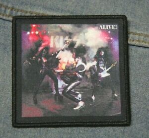 KISS Alive! patch iron on denim  Official merchandise rock music