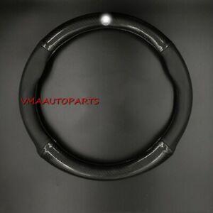 Carbon Fiber Pattern Car Steering Wheel Cover Leather 38cm fit for Mercedes Benz