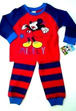 Baby Boys Disney Pyjamas Applique Embroidery Mickey 12-18 Months