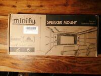 1 Paar Boxenständer Minify SS-X1 Lautsprecher Standfuss Boxen Stativ Ständer