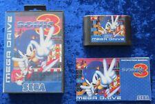 Sonic 3, OVP Anleitung, SEGA Mega Drive Spiel, the Hedgehog