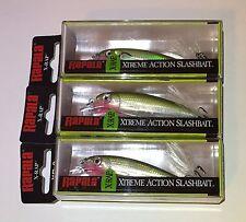 (3) New Rapala XR-8 X-Rap Olive Green Extreme Action Slashbait Crankbait Lot