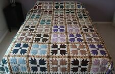 "New Amish Quilt Handmade Patchwork from Lancaster Pa. ""Bear's Paw""  92""x108"""