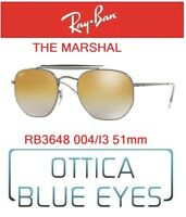 Occhiali da Sole RAY BAN SUNGLASSES RB 3648 004/I3 51mm RAYBAN THE MARSHAL gold