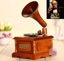WOODEN PHONOGRAPH MUSIC BOX : ♫  The Godfather Theme ♫