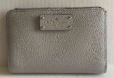 New Kate Spade New York Tellie Grove Street Leather wallet Stone Ice