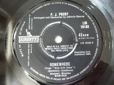 """PJ PROBY ~ SOMEWHERE ~ NEAR MINT LIBERTY 1964 UK POP ROCK 7"""" VINYL SINGLE"""