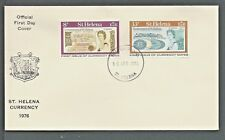 1976 ST.HELENA FIRST ISSUE CURRENCY NOTES SET FDC
