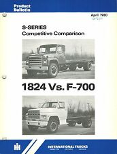 INTERNATIONAL VINTAGE S-SERIES COMPETETIVE COMPARE TRUCK  PRODUCT BULLETIN 1980