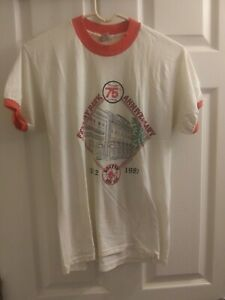 Rare 80s Vintage T-Shirt  Boston Red Sox Fenway Park 75th Anniversary MLB