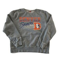 Denver Broncos Mitchell & Ness Oversized Pullover Sweatshirt Women's Size L Gray
