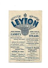 More details for leyton v yorkshire amateurs (friendly) 1932/33