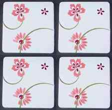 Corning PRETTY PINK Set Of 4 Square Stove Covers 6522765
