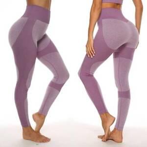 Women High Waist Seamless Leggings Ankle Yoga Workout Tight Tummy Control
