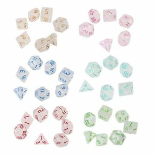 Pack Of 7 Dnd Rpg Magic Dial Dice Tabletop Board Game Toy  Resin Polyhedral Dice