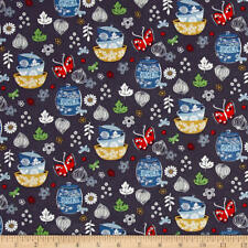 Cucina Bowls Cotton Fabric Windham Fabrics Charcoal  By the yard   BFab