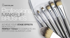 Kryolan 8314 Makeup Brush Set 7 Synthetic Fiber Brushes & Bag Professional Stage