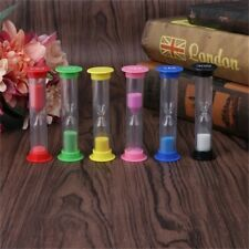 6pcs Sand Timer Colored Hourglass Timers Clock for Kids Games Classroom Use New