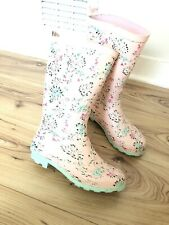 Pink Floral George Asda Ladies Wellingtons Boots Rubber Wellies Size 3
