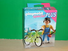 Playmobil Especial - Special Plus 4791 Fontanero con bicicleta
