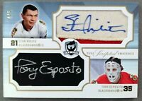 2007-08 The Cup SS2-EM Mikita Esposito 4/5 Dual Scripted Swatches LEGENDS Auto