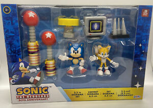 SONIC THE HEDGEHOG SONIC AND TAILS DIORAMA 30TH ANNIVERSARY GIFT SET