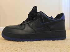 Nike Air Force 1 One AF-1, 488298-006, Black/Blue, Men's Casual Shoes, Size 9.5