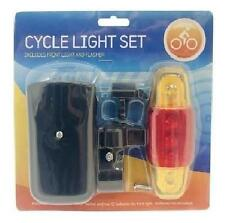 Bicycle Light Set - 2 Pack One Front Light And One Back Flasher - Brand New