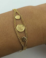 Pre Owned 22k Solid Yellow Gold Bracelet S Clasp 10.40 Grams 7.5 Inches