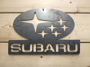 *Premium* Subaru Racing Car Metal Wall Sign Road Car Logo Man Cave Garage