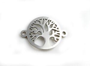 Edelstahl Verbinder Wunschbaum 21 x 16 mm-Armband herstellen Lebensbaum macrame