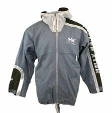 Vintage Helly Hansen Razorfish Jacket Nylon Blue Hood Spell Out Sz 2XL XL Mens