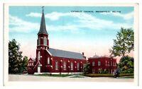 Catholic Church, Brookfield, MO Postcard *248
