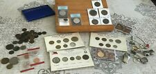 Horders Clean Out U.S. World Coins Some Silver, Jewelry Etc. Box Lot