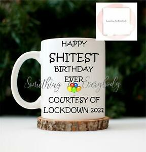 Lockdown 2021 Birthday Mug Cup Rude Gift Novelty Funny Present Gift