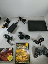PS2 Sony Play Station Slim Console SCPH-75001 Controller 2 Games All Cords Works