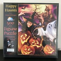 Happy Haunts 500 Piece Halloween Jigsaw Puzzle By SunsOut 57118 New Sealed