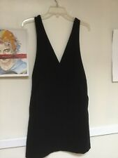 HM H&M Women Pinafore Dress Black Size 6 has pockets!
