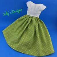 OOAK Handmade Green & W Dress Clothes FITS Barbie Vintage,Silkstone,Repro Doll