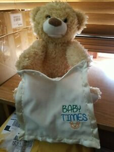 Animated Peek A Boo Bear 10-inch Great Condition