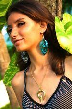 Exotic Pendant Brass Spiral Tribal Necklace Golden Women Vintage Unique Chain