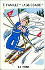 Ski Skiing SPORT PLAYING CARD CARTE À JOUER HUMOR HUMOUR 60s