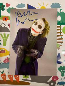 Heath Ledger Joker Batman The Dark Knight DC signed 6x8 photo coa